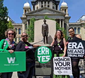 Women Employed and our partners advocating for passage of the ERA in Springfield, Illinois.
