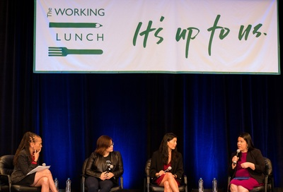 The panel discussion at The Working Lunch 2018.